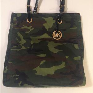 Michael Michael Kors Nylon Camouflage Tote